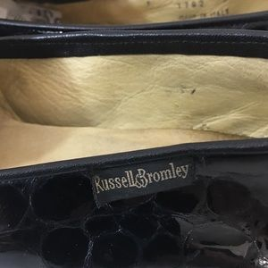 Russel & Bromley Shoes - Russell & Bromley Vintge Black Patent Loafer Flats